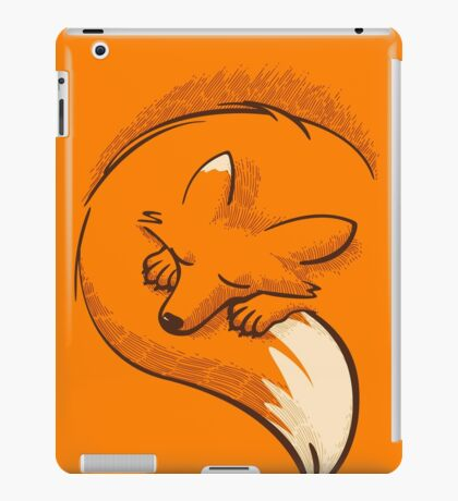 The fox is sleeping iPad Case/Skin