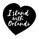 I Stand With Orlando - Black by Kirsten Chambers