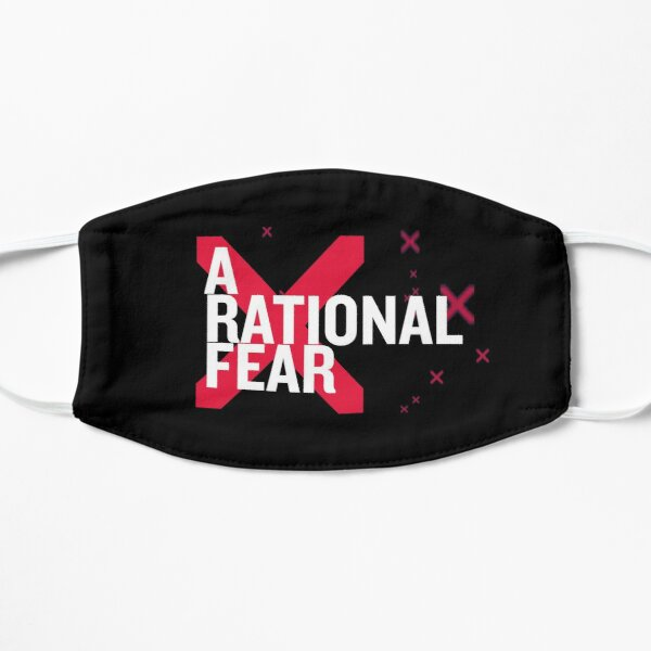A Rational Fear mask. Don't go viral Flat Mask
