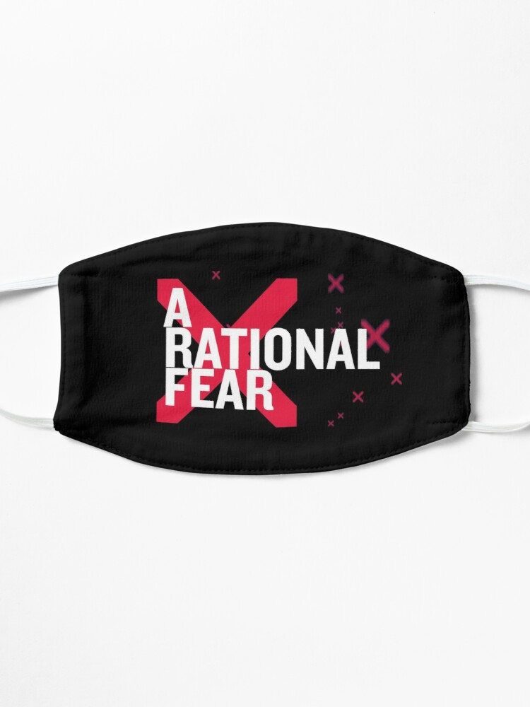 Alternate view of A Rational Fear mask. Don't go viral Mask