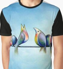 Finches On Parade - Excerpt One Graphic T-Shirt