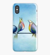 Finches On Parade - Excerpt One iPhone Case