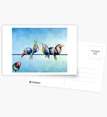 Finches On Parade - Excerpt One Postcards