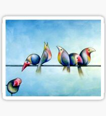 Finches On Parade - Excerpt One Sticker