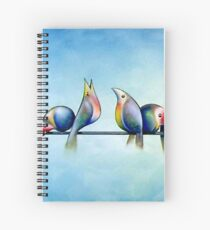 Finches On Parade - Excerpt One Spiral Notebook