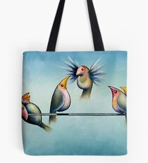 Finches On Parade - Excerpt Two Tote Bag