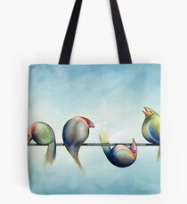 Finches On Parade - Excerpt Three Tote Bag