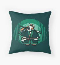 Samurai Panda Throw Pillow