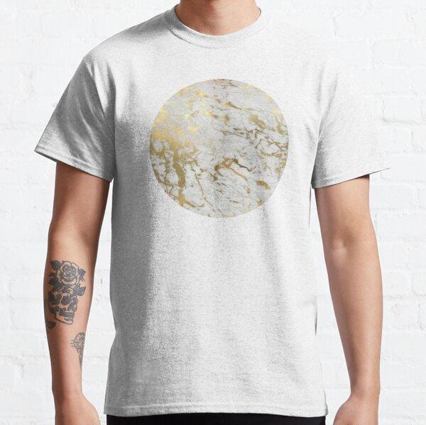 Marbre doré sur blanc (impression de qualité d'origine) T-shirt classique