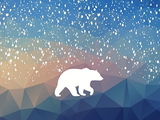Beary Snowy in Blue by IvonaVargek