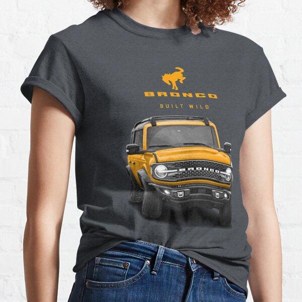 Bronco and Logo - Cyber Orange Classic T-Shirt
