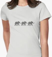 Three Elephants Womens Fitted T-Shirt