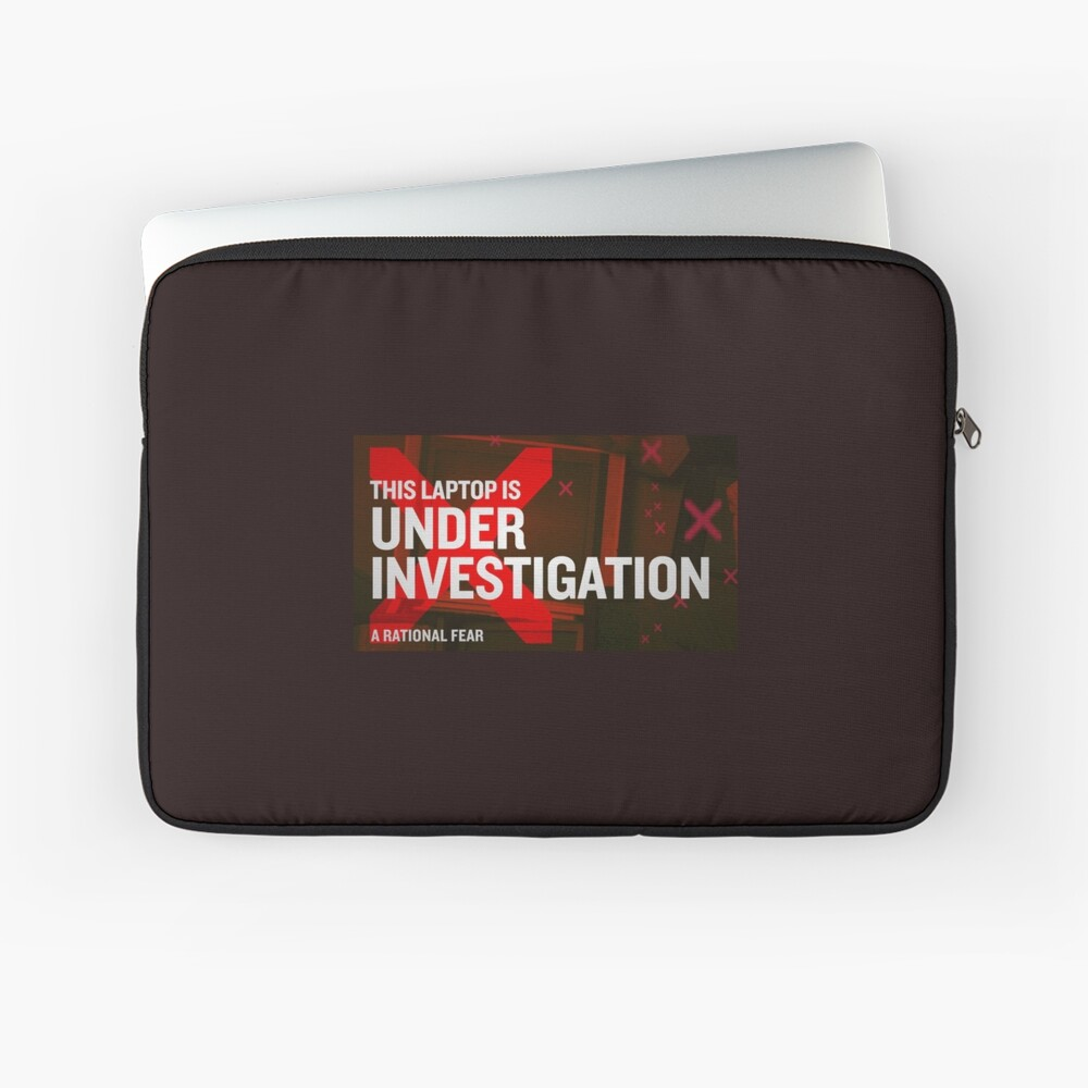 A Rational Fear satirical podcast laptop investigation Laptop Sleeve