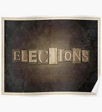 Vintage Elections Typography Poster