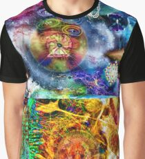Where Are You Are Here - The Answer To The Universe. Visual Guide for Humans No.33 DMT ART Graphic T-Shirt