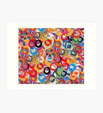 Circles in an abstract motif Art Print