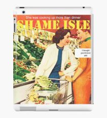 Shame Isle Retro Spoof Humor Cooking up more than dinner iPad Case/Skin