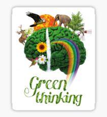 Green Thinking - love of Nature   Pensamiento en verde - amor por la Naturaleza Sticker
