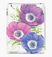 Anemones on White iPad Case/Skin