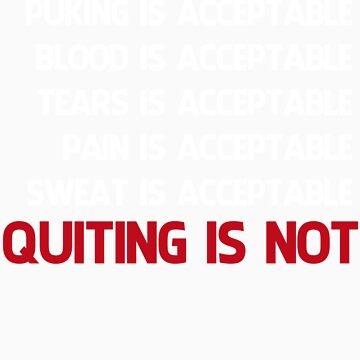 QUITTING IS NOT ACCEPTABLE  by pinkboy