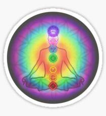 Meditation & the Chakras Sticker