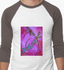 "Dragonfly Flit - ""Mad Magenta"" Men's Baseball ¾ T-Shirt"