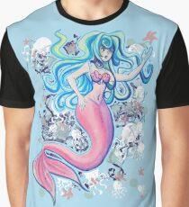 Pink Tailfin Mermaid Graphic T-Shirt