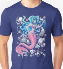 Pink Schwanzfinne Meerjungfrau Slim Fit T-Shirt