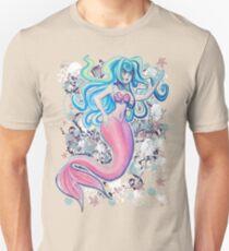 Pink Tailfin Mermaid Unisex T-Shirt
