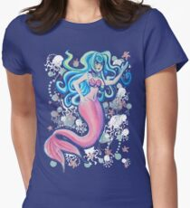 Pink Tailfin Mermaid Women's Fitted T-Shirt