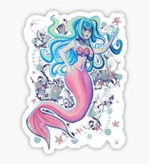 Pink Tailfin Mermaid Sticker
