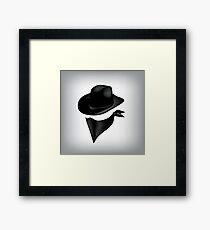 Bandit hat and bandana Framed Print
