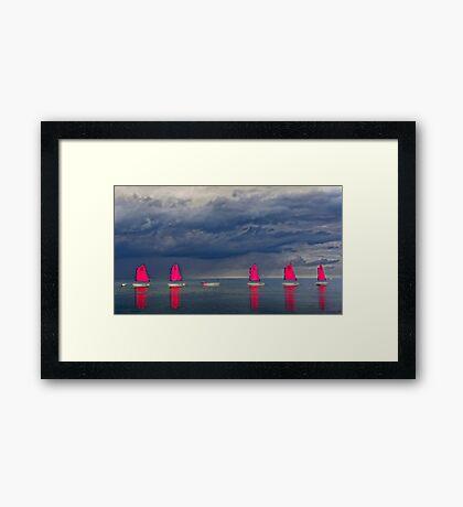 Voiles sous l'orage Framed Print