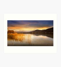 Scirocco clouds over Wörthersee Art Print