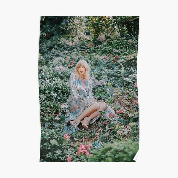 Sitting On Garden Poster