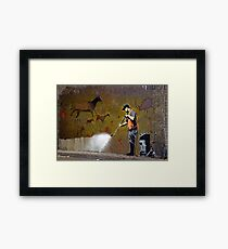 Council Worker by Banksy Framed Print