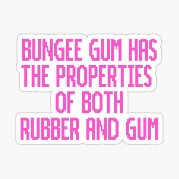 Bungee Gum Properties (Pink Version) Sticker