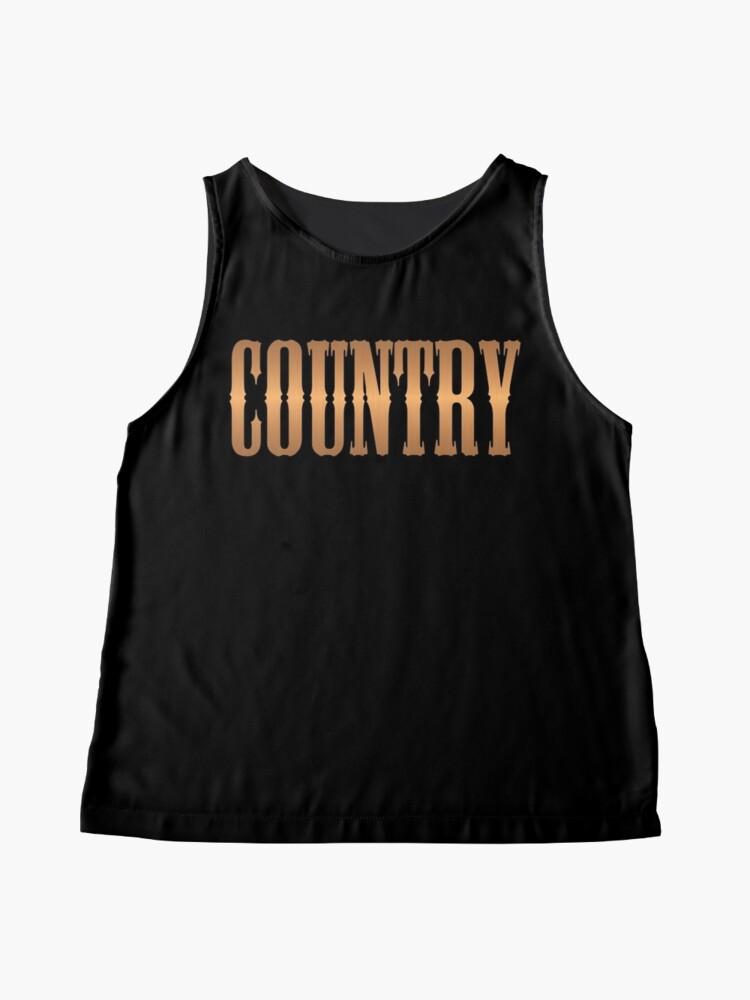 Alternative Ansicht von Country-Musik Kupfer Ärmelloses Top