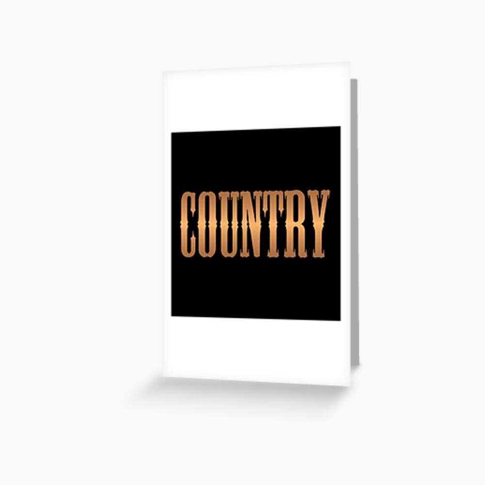 Country-Musik Kupfer Grußkarte