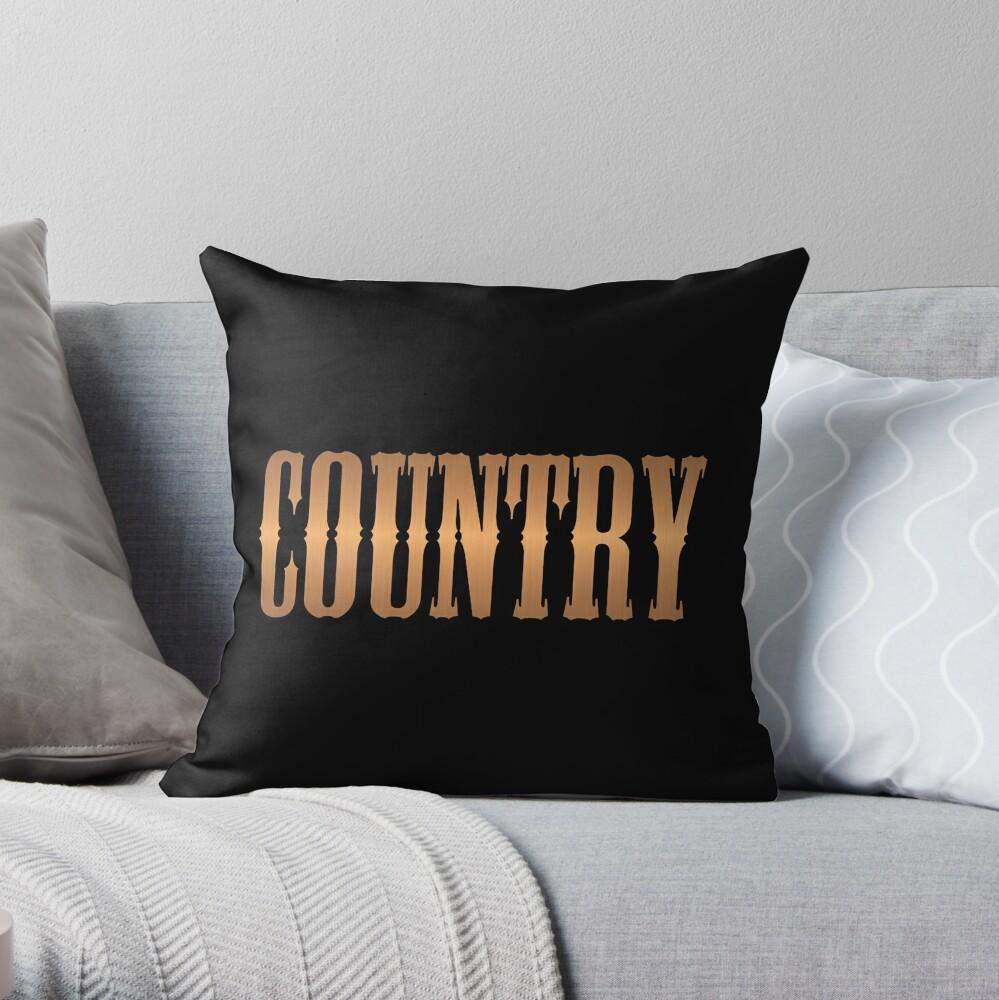 Country-Musik Kupfer Dekokissen