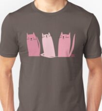 Three Little Pink Cats T-Shirt Unisex