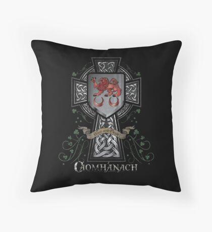 Caomhánach Celtic Cross Throw Pillow