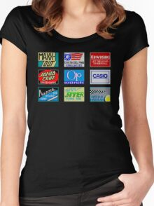 CALIFORNIA GAMES SPONSORS - MASTER SYSTEM  Women's Fitted Scoop T-Shirt