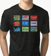 CALIFORNIA GAMES SPONSORS - MASTER SYSTEM  Tri-blend T-Shirt