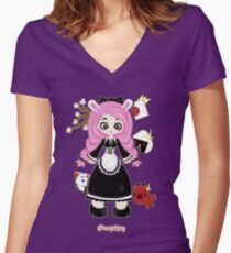 Cosplay Girl by Lolita Tequila Women's Fitted V-Neck T-Shirt