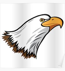 Bald Eagle Mascot Poster