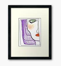 Demi-Face in Purple Framed Print