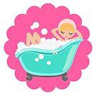 Bubble Girl on Flower by bubblegirlsoap