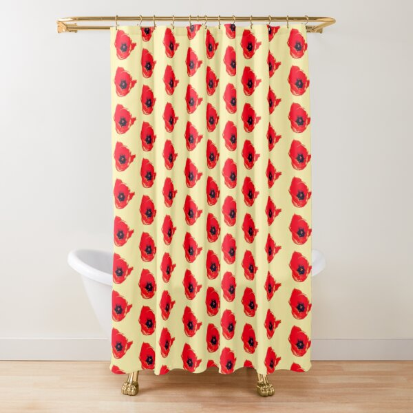 Red Tulip Blooming Shower Curtain