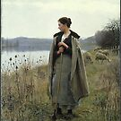 Daniel Ridgway Knight (American, ). The Shepherdess of Rolleboise,  by MotionAge Media
